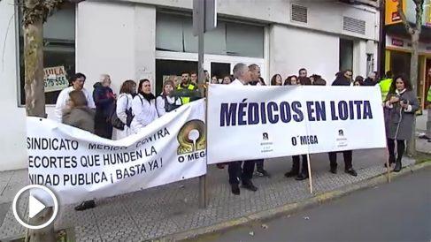 Plante de médicos gallegos por el deterioro de la sanidad pública.
