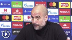 Guardiola se calentó en rueda de prensa.