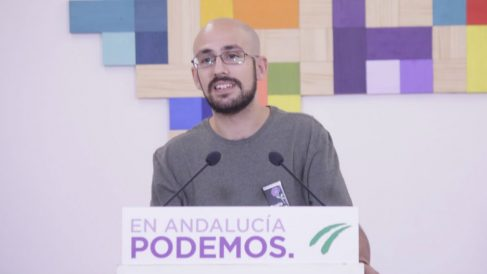 El secretario de Comunicación de Podemos Andalucía, Pablo Pérez Ganfornina. Foto: Europa Press