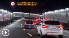 Limitaciones al tráfico del protocolo anticontaminación del Ayuntamiento de Madrid se encuentra la limitación de velocidad en la M-30. Foto: EFE