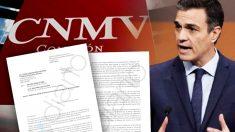 Carta del comité de empresa de la CNMV a Pedro Sánchez.