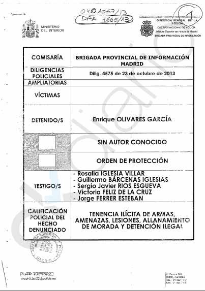 Policías honrados se opusieron a robar el atestado del secuestro de Bárcenas en comisaría como les exigió Interior