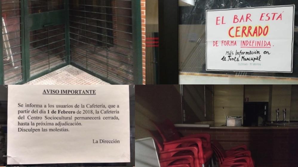 Cierre de varias cafeterías en Villaverde.