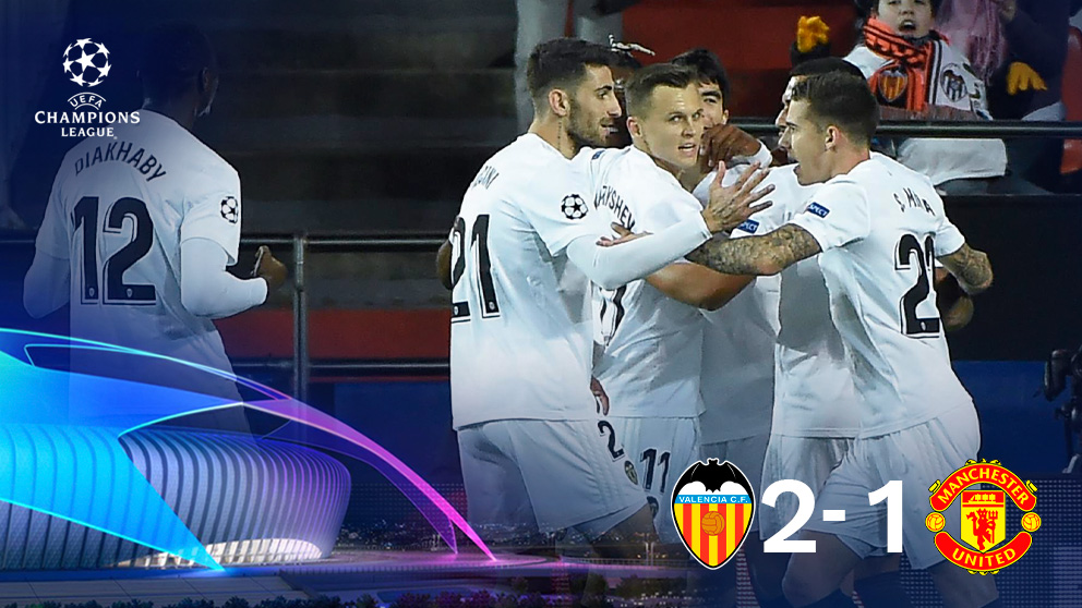 El Valencia se despide de la Champions con una victoria ante el United.