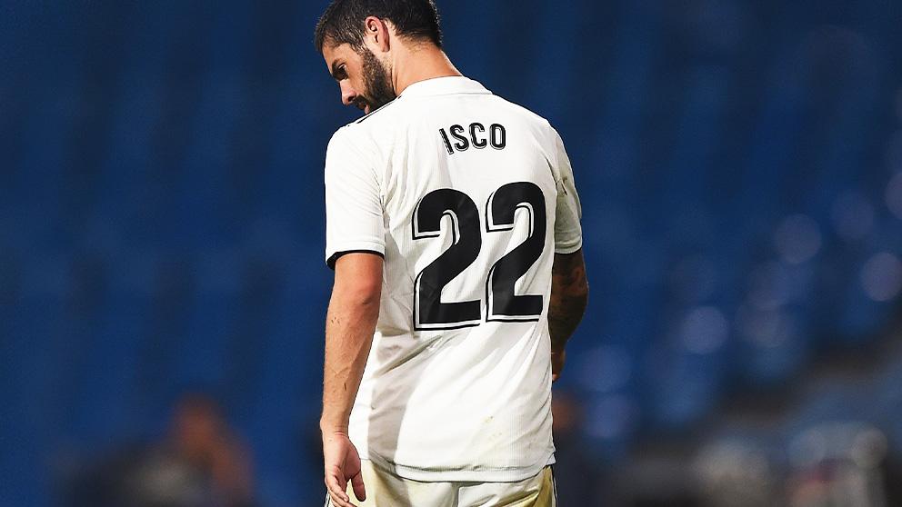 Isco Alarcón durante un partido con el Real Madrid.