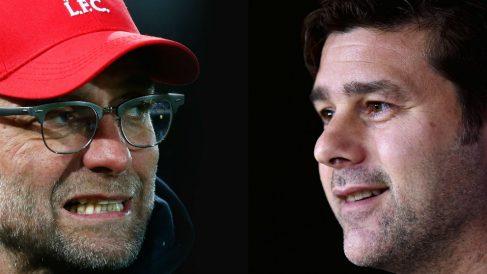 Jurgen Klopp y Pochettino, posibles rivales del Real Madrid en Champions. (Getty)