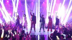 """Los concursantes de 'OT 2018' durante la canción grupal, """"Human"""". (Foto: RTVE)"""