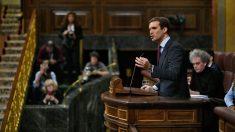 El líder del Partido Popular, Pablo Casado, durante una intervención en el Congreso de los Diputados. Foto: Europa Press