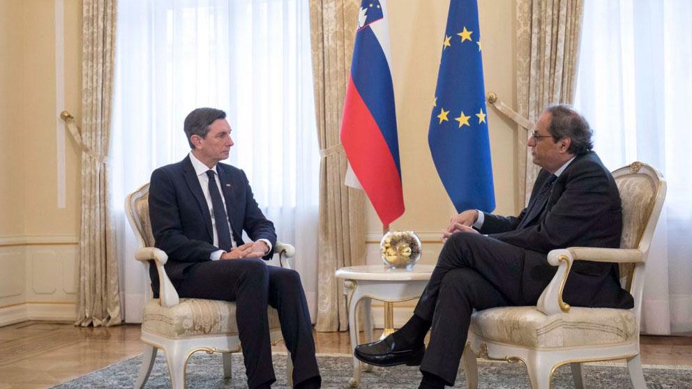 Borut Pahor y Quim Torra