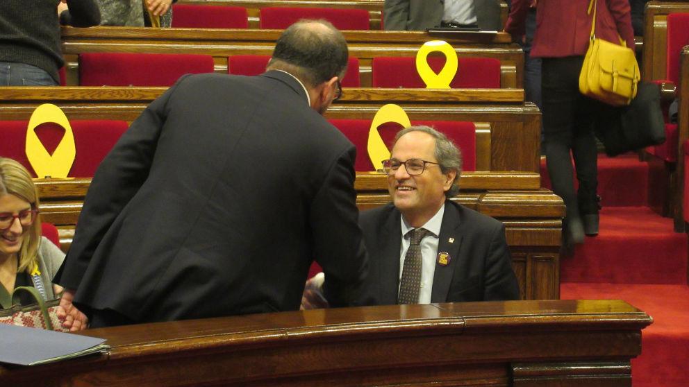 Quim Torra en el Parlament. Foto: Europa Press