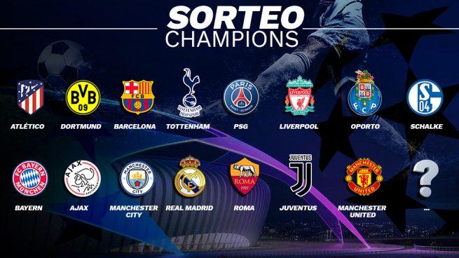Sorteo Champion League Gallery: Sorteo Champions League: 15 De Los 16 Equipos Del Bombo Ya
