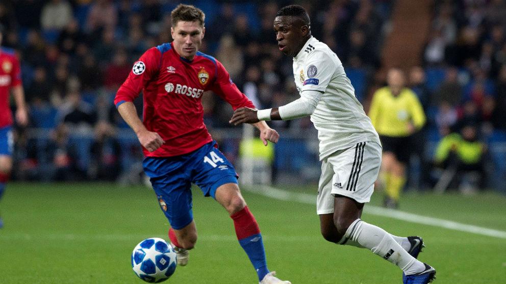 Vinicius, en el Real Madrid – CSKA