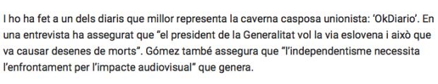 """El separatismo pone en la diana al mosso que dijo en OKDIARIO que el 21-D """"puede haber muertos"""""""