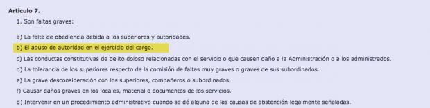 Reglamento de Régimen Disciplinario de los Funcionarios de la Administración del Estado