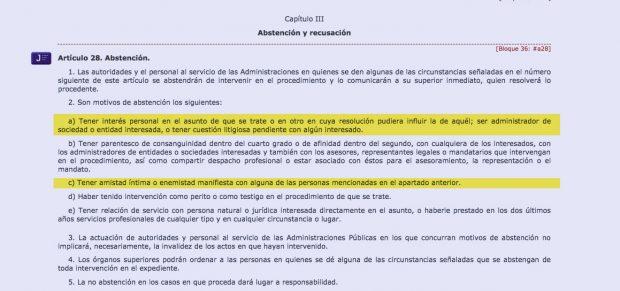 Régimen Jurídico de las Administraciones Públicas y del Procedimiento Administrativo Común