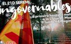 Los radicales independentistas quieren colapsar Barcelona con coches el 21-D