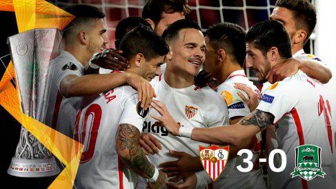 El Sevilla acabó como primero de su grupo en la Europa League.