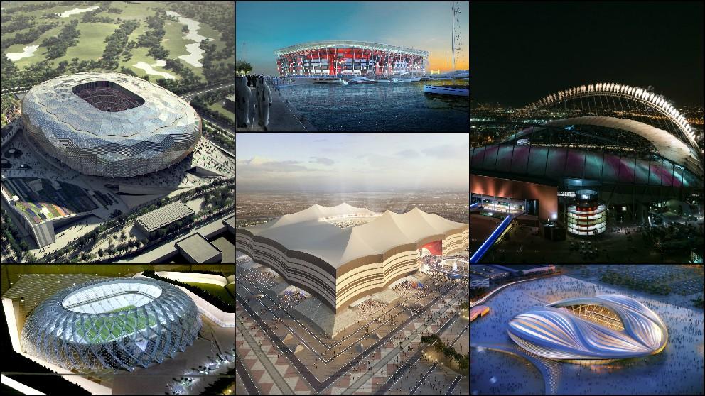 Estos son los estadios dónde se disputará el Mundial de Qatar 2022