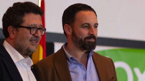 Francisco Serrano y Santiago Abascal (RRSS).