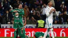 Los jugadores del Leganés celebran un gol aquella noche
