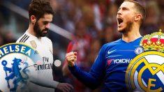 Isco, jugador del Real Madrid, y Hazard, jugador del Chelsea