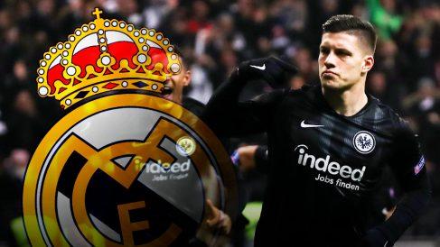 Jovic está en la agenda del Real Madrid como posible refuerzo para este próximo verano
