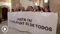Protesta de Ciudadanos en el Parlament.