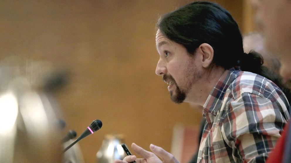 El líder de Podemos, Pablo Iglesias, en la Comisión de investigación del Senado el pasado diciembre. (Foto: EFE)