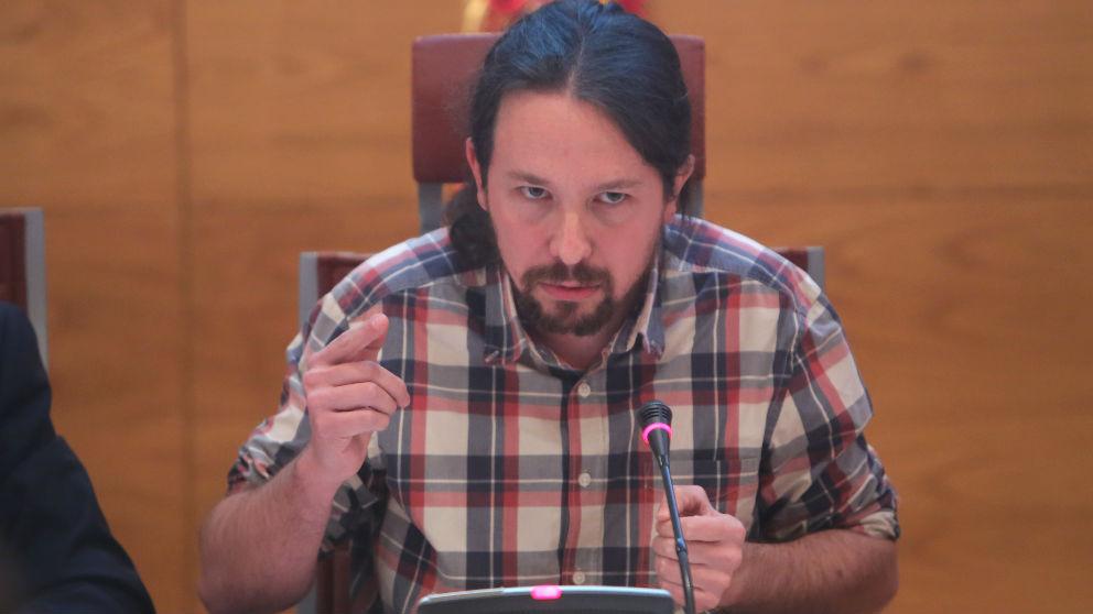 El líder de Podemos, Pablo Iglesias, en la Comisión de investigación del Senado el pasado diciembre. (Foto: EP)