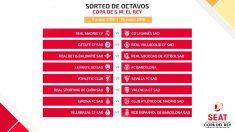 Emparejamientos de octavos de la Copa del Rey