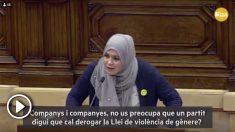 """La diputada de ERC en el Parlament, NajatDriouech, llama """"machista"""" a VOX"""