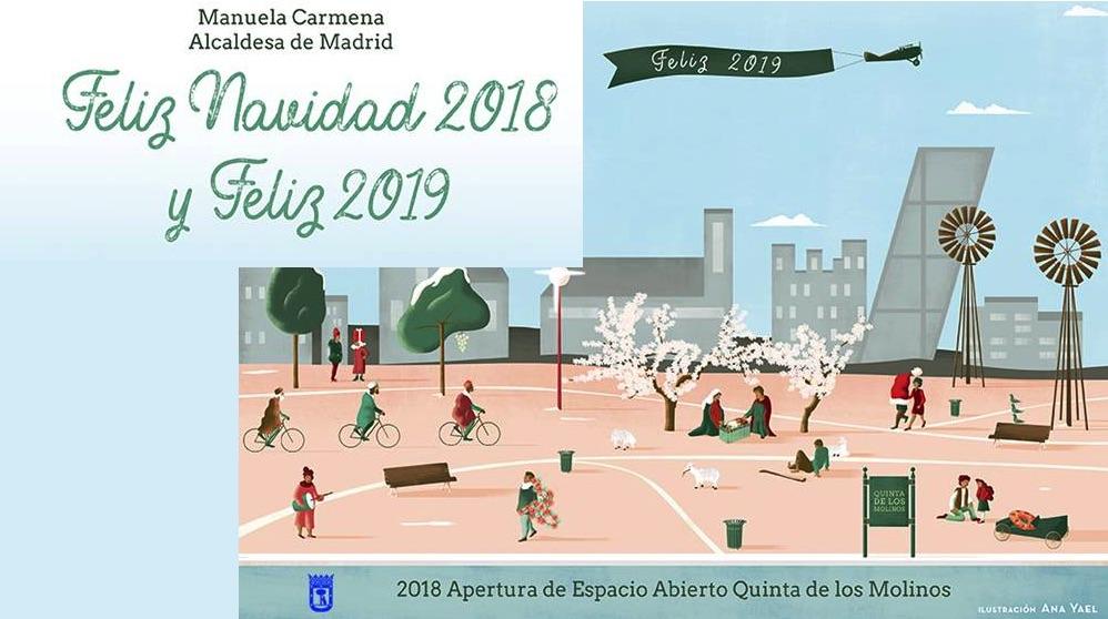 Felicitación navideña de Carmena 2018.