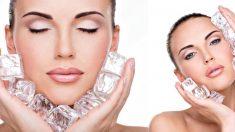 El hielo es excelente en el rostro por diversos motivos, como tratar las arrugas