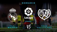Liga Santander 2018-2019: Real Madrid – Rayo Vallecano  Horario del partido de fútbol de Liga Santander.