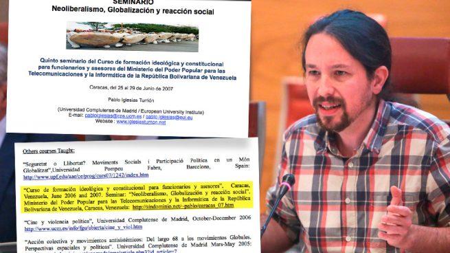 El secretario general de Podemos, Pablo Iglesias, y las pruebas que desmontan su versión.