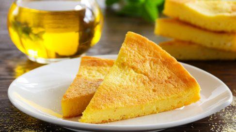 Polenta con col y queso al horno