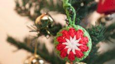 Los adornos de Navidad con ganchillo son originales y fáciles de hacer