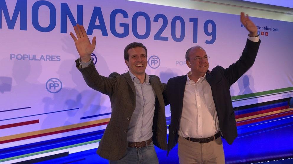 Pablo Casado y José Antonio Monago.