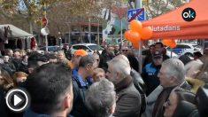 Atacan una carpa de Ciudadanos en Vilarranca del Penedès.