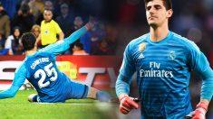 Courtois salvó al Madrid contra el Rayo.