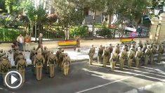 Parada militar en La Línea de la Concepción.