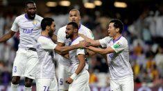 Los jugadores del Al Ain celebran un gol. (AFP)