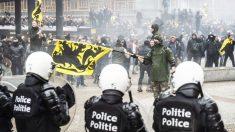 Manifestación de la extrema derecha en Bruselas (Foto: AFP)
