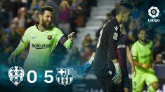 Leo Messi no tuvo piedad con el Levante. (AFP)