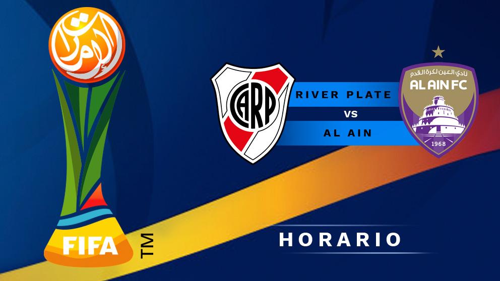 Mundial de Clubes 2018: River Plate – Al Ain   Horario del partido de fútbol del Mundial de Clubes 2018.