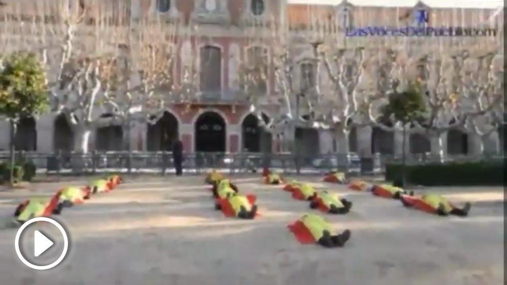La «Operación desembarco Parlament» puesta en marcha por veinte jóvenes.