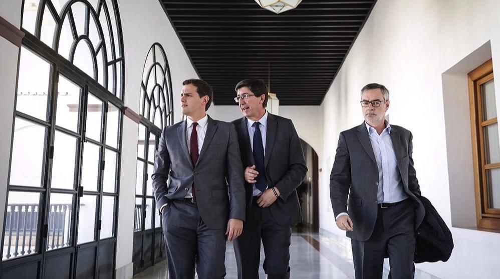 Albert Rivera, Juan Marín y Villegas. (Foto: Cs)