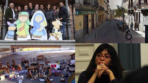 Belén protesta en Chamberí, calle sin luces, Puerta de Alcalá y Arce que ha cancelado el concurso de villancicos.