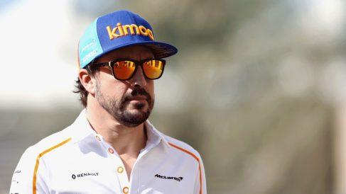 ernando Alonso, antes de la sesión de entrenamientos libres del GP de Abu Dabi (Getty)