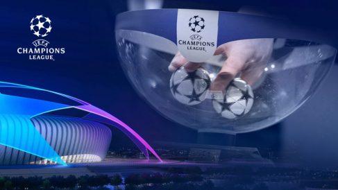 Bombos en un sorteo de la Champions League.
